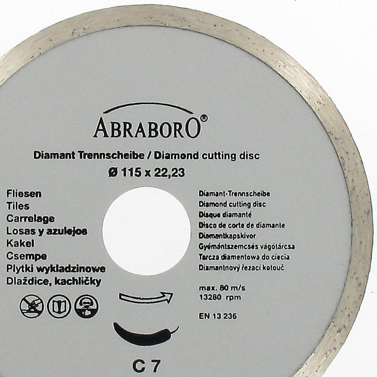 abradia diamant trennscheibe fliesen 115x22 23 abraboro. Black Bedroom Furniture Sets. Home Design Ideas